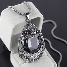 2015 Colar Jewelry Counter Highend Necklace Drop Crystal Chain Woman Long Fashion Jewelry Birthday Gift To Send His Girlfriend