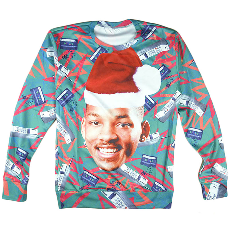 Plstar Cosmos 3d Jumper Frais Prince Ras Du Cou Sweat Will Smith