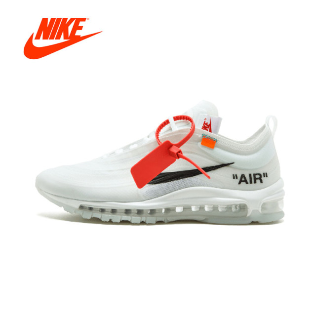Original New Arrival Authentic NIKE Air Max 97 OG Off White Mens Running Shoes  Sneakers Sport