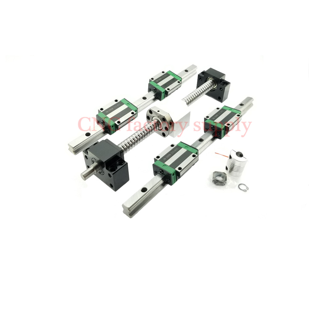 3D print parts CNC router SFU1605 700 800 SFU1204 L 950 1000mm ballscrew set HGR15 linear