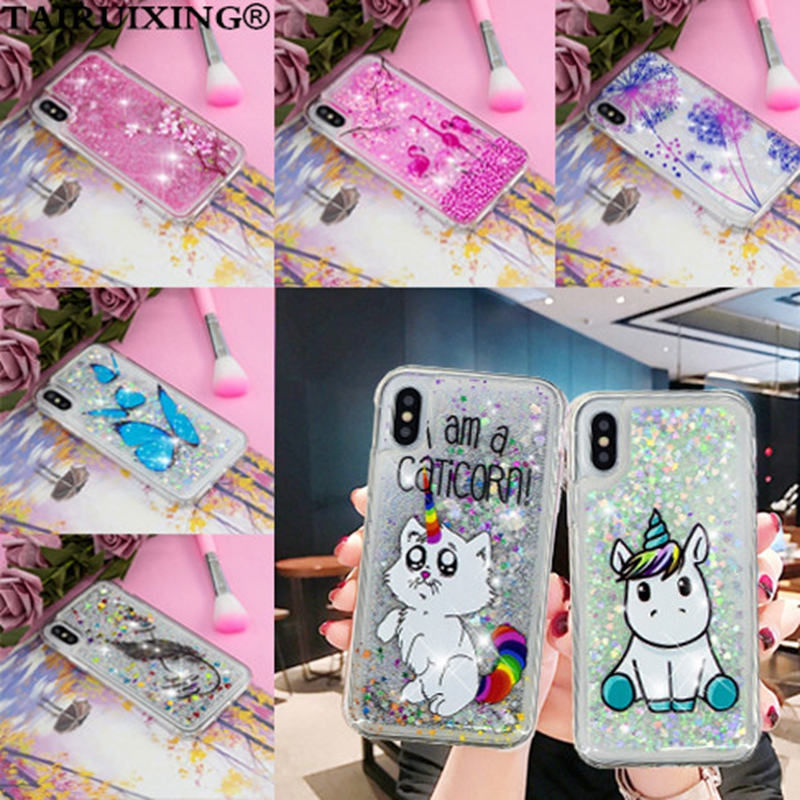 Liquid Case For Huawei <font><b>Honor</b></font> 8X 7A <font><b>9</b></font> 10 <font><b>Lite</b></font> Enjoy 7S P20 <font><b>Lite</b></font> Pro Mate 10 20 <font><b>Lite</b></font> <font><b>Cartoon</b></font> Funny Unicorn Soft Silicone Cover image