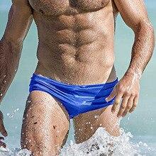 Sexy Swim Briefs Mens Swimming Trunks Spa Pool Beach Swimwear Low Waist Summer Gay Bikini Shorts Board