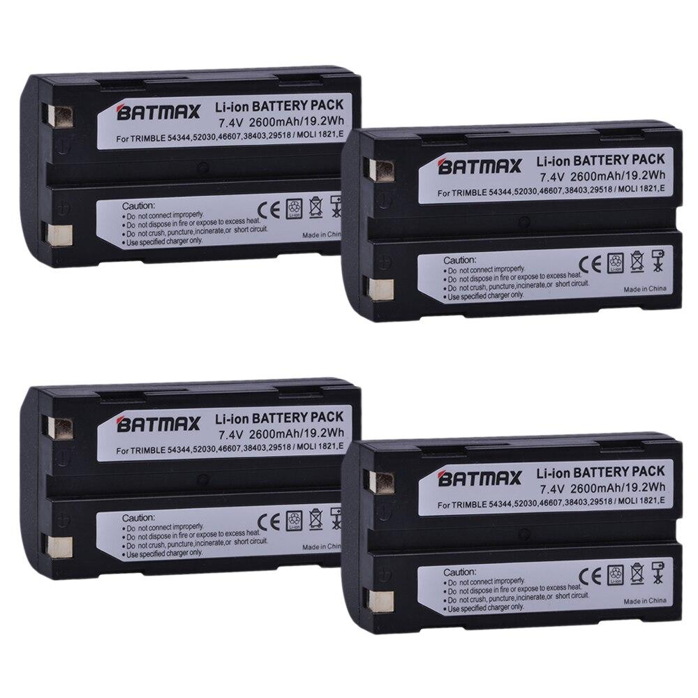 4 pcs 7.4 v 2600 mah Batterie akku 54344 pour Trimble 54344, 29518, 46607, 52030, 38403, R8, 5700, 5800, R6, R7, R8, R8 GNSS, MT1000