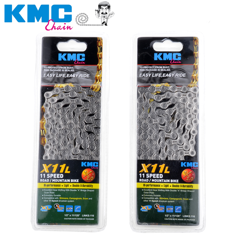 original kmc x11 X10Lept 11 speed chain for trekking 116 left ecoproteq coated 11 s chain + missing link kmc missing link bicycle chain link 6 7 8s and 9 speed 10s 11s