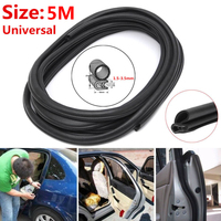 5M Rubber Seal Car Door Trunk Lip Edge Protector Strip Waterproof Anti Noise high quality suitable for most cars around doors