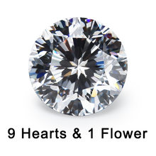 9 сердца и 1 цветок огранки 4 ~ 10 мм Свободный cz 5a качество