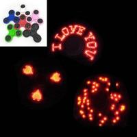 LED Lighting Finger Spinner EDC Hand Spinner Tri Fidget Child Adult Autism ADHD Focusing Toy Stress