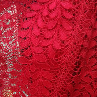 New Olive Branch Embroidered Lace Fabric Strand Polyester Nylon Textured Fabric Luxury Dress Fabric 150cm 5yard