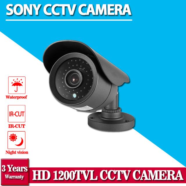 Top Qualidade! hd 1.0 megapixel sony 1200tvl impermeável ao ar livre video surveillance night vision ir cctv câmera de segurança kits