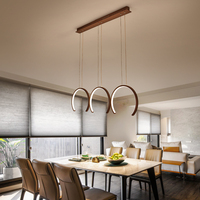 Restaurant chandelier three head modern minimalist small table lamp home creative personality led Nordic dining room lamp