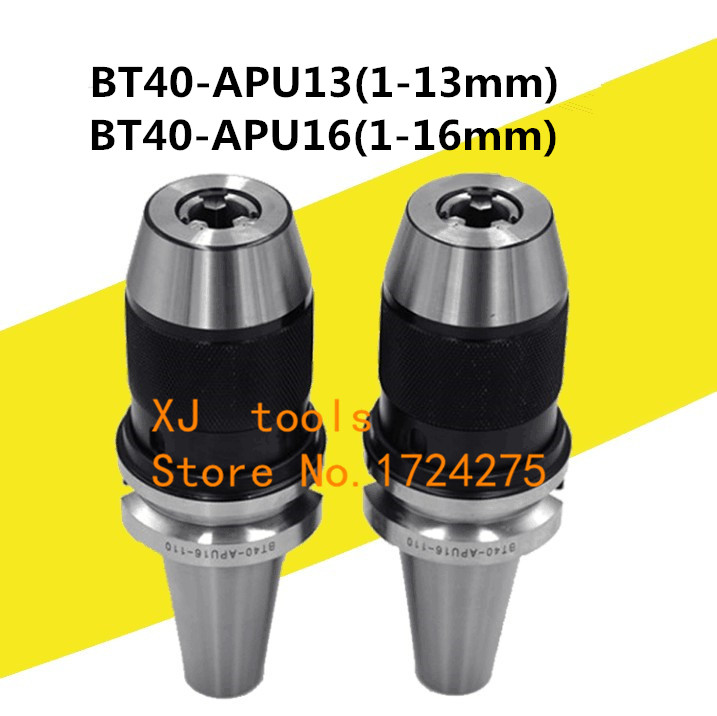 1Pcs BT40 APU16 Range 1 16mm Integrated keyless self tight Drill chuck for milling lathe BT40