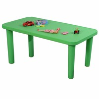 Kids Portable Plastic Table Learn And Play Activity School Home Furniture Green TY323296 12