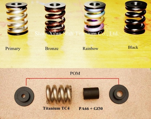 Titanium Bike Spring Damper Suspension Spring +Washers+ Rigid-reinforcement High Quality for Bicycle Brompton