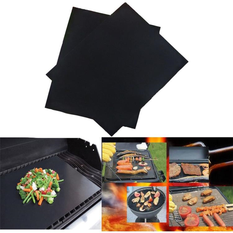 PTFE Non-stick Bbq Grill Mat Barbecue Baking Liners Reusable Teflon Cooking Sheets 33x40cm Bbq Tools ...