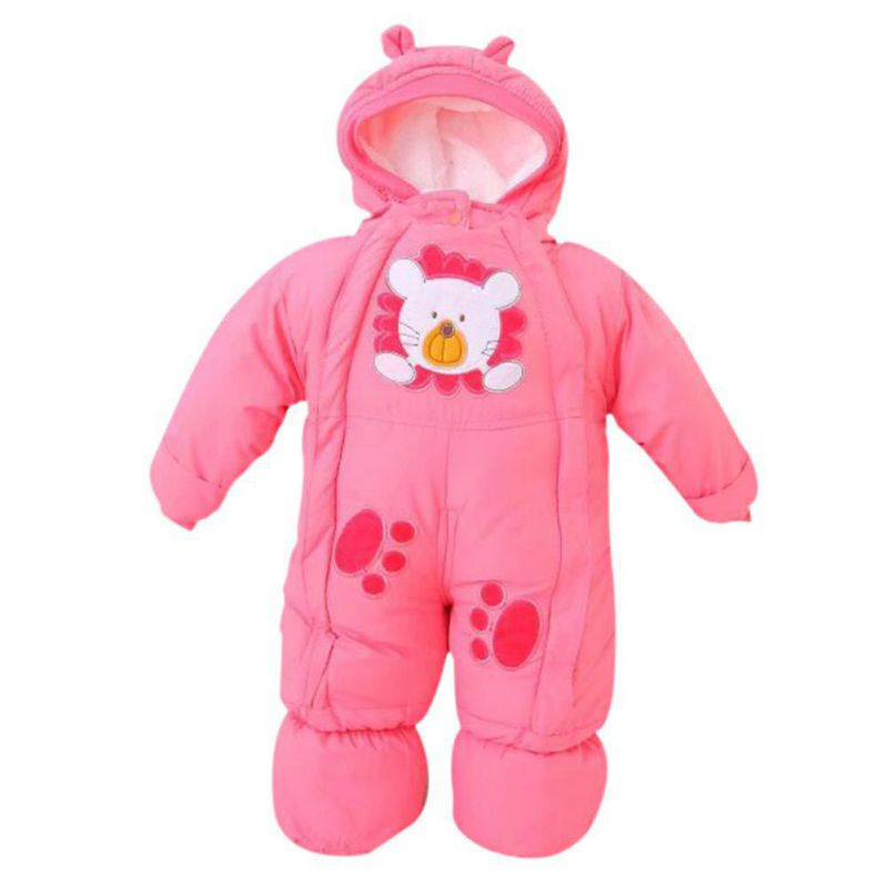 Winter Newborns Infant Rompers Baby Fleece Animal Style Clothing Jumpsuits Kids Boys Girls Cotton Overalls baby clothing infant baby kid cotton cartoon long sleeve winter rompers boys girls animal coverall jumpsuits baby wear clothes