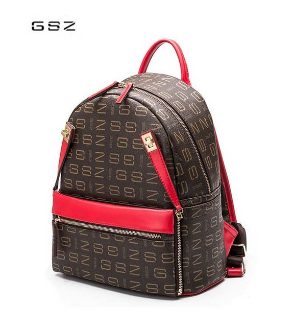 2018GSZ new women bag Trendy travel backpack Casual girl backpack Brown  Letter Multifunctional Woman Backpack Free Shipping 55d901cf81e52