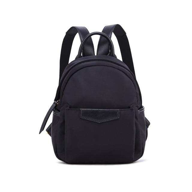 Korea Style Mini Women Backpack Soild Color Shoulder Bag Designer  Multi-function Female Oxford Cloth Bag Cute Small Bagpack Girl 340a0e4204de8