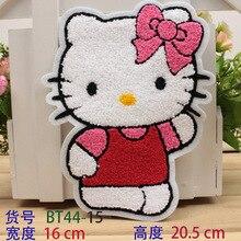 2 шт. DIY Экологичные мультфильм рисунок «Hello Kitty» ткани пластырь/значки гладить на аппликация вышивка аксессуары декоративные наклейки