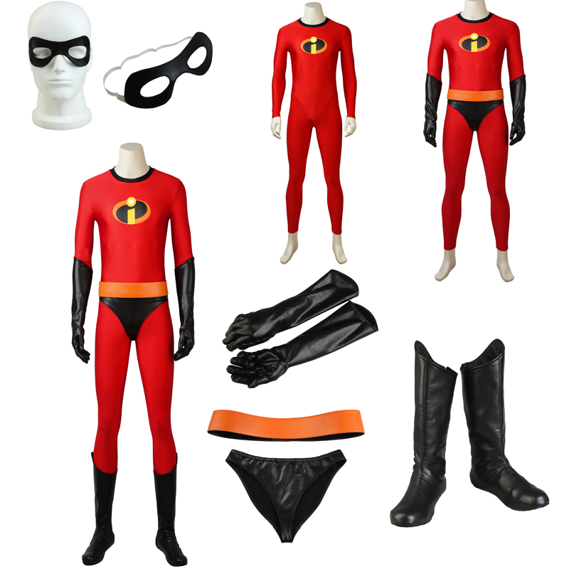 New Incredibles 2 Cosplay Bob Parr Mr. Incredible Costume Cos Shoes Halloween Customized Adult Outfit