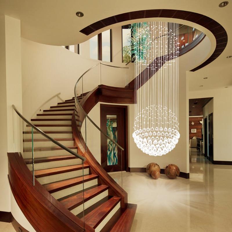 Staircase Chandelier Duplex Floor Crystal Chandelier