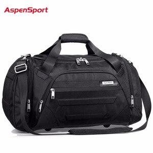 Image 2 - AspenSport 2017 Men Waterproof Weekend Bags Travel Luggage Nylon Duffle Bags Trip Handbag Large Bag Carry on hand bag