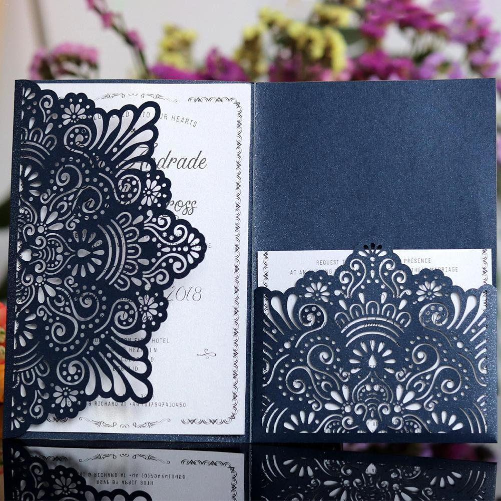 Wedding Invitations Business: 10PCS European Style Lace Wedding Invitations Cards Laser