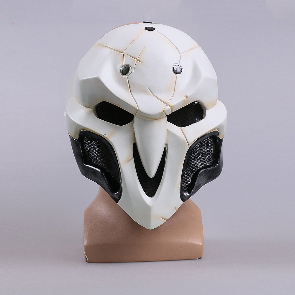 High Quality Over watch Game Mask PVC Cosplay Reaper Mask Helmet Halloween Reaper Party Mask (4