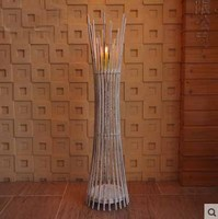 Рождество античный свечи Придерживайтесь Романтический бамбуковые подсвечник дерево Фонари Свадебные свечи стоят для украшения дома