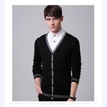 2016 neue Marke V-ausschnitt Mode Pullover Strickjacke Strick Slim fit Beiläufige Oberbekleidung Mann Kleidung 3 Farbe M-XXL
