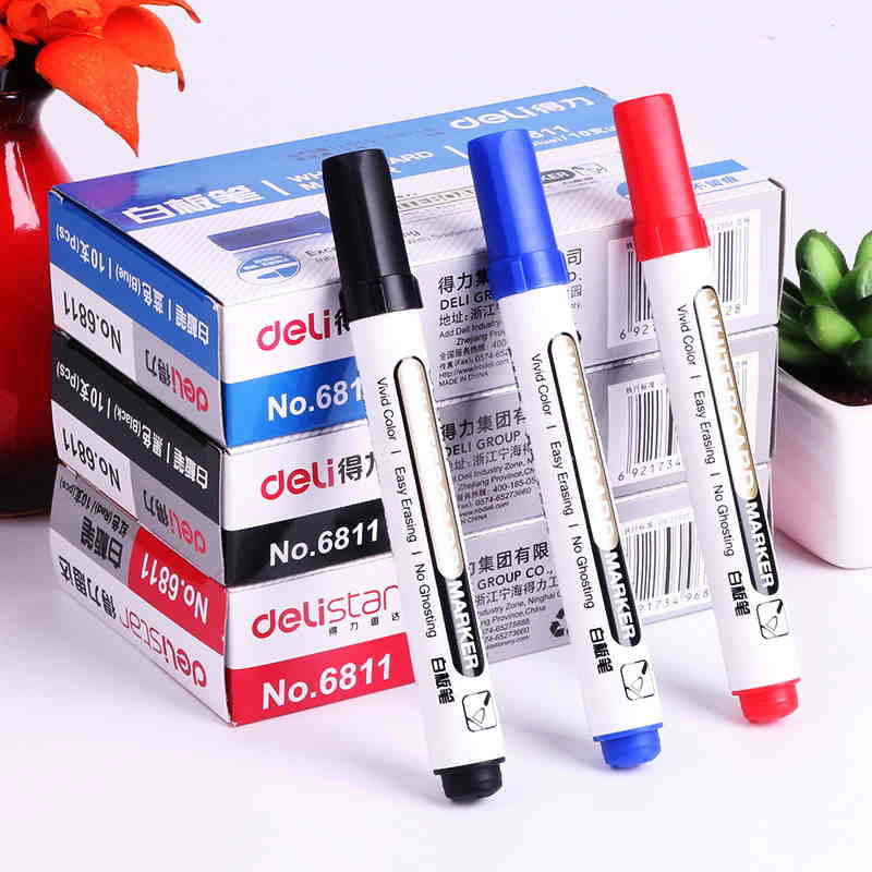 Us 1 99 1 Set 2 Pcs Whiteboard Marker White Board Marker Black Dry Erase Eraser Markers Pen Pens Smooth Writing Blue Black And Red In Whiteboard