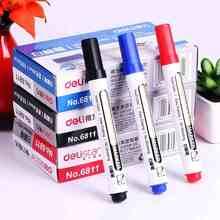 1 set / 2 pcs whiteboard marker  white board marker black dry erase eraser markers pen pens smooth writing blue black and red