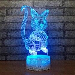 Oświetlenie kreatywne siedem kolorów 3d stolik nocny lampy do salonu dotykowy kolor 3d Stereo Vision lampka led