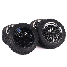 1/10 Rc Buggy Off-Road Car Tires Front Rear Tyre Wheel Rim Set 12mm Hex for HSP HPI Tyres все цены