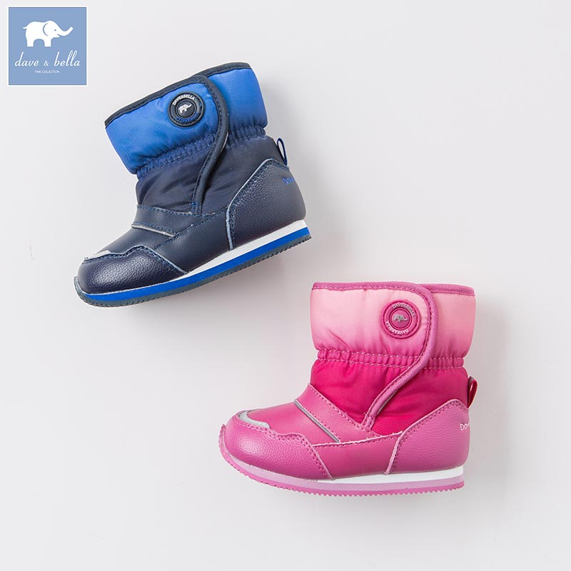 Dave Bella autumn winter babay boy girl snow boots brand shoes DB5331 baby boots winter boy snow boots brand newborn leather baby boots for girl baby shoes infant kid shoes first walkers moccasins