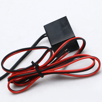 DC 12V Mini Neon EL Wire Power Driver Controller 1-5M Glow Cable Strip Light Inverter Supply Adapter Flexible