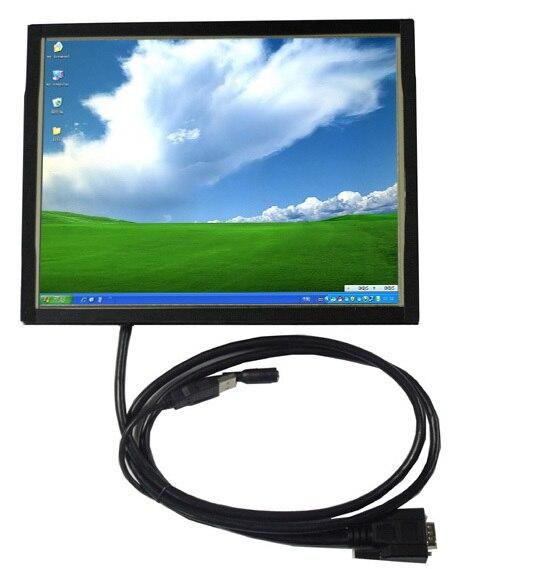8 дюймов открытой рамки сенсорный монитор и металлический каркас стенд автомобиля VGA сенсорный экран жк-монитор