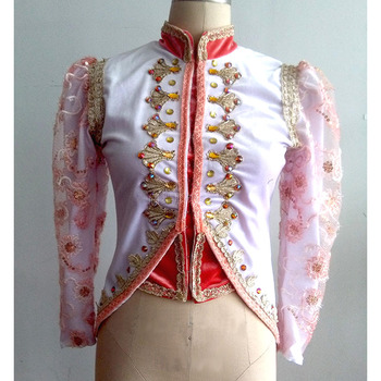 Customized Prince Man Ballet Dance Tunic Jacket,Ballet Top For Man Or Children Kid Retail Wholesale