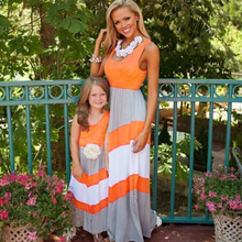 Mother daughter Long section dresses