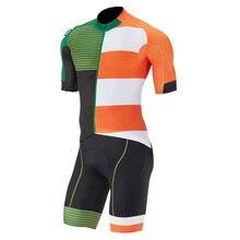 Pro team cycling Jersey kit short sleeve bib shorts Quick-Dry Short Sleeve Cycling Clothing sets gel pad Bib Short Ropa ciclismo