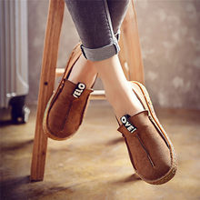 Plus Size Women Loafers Shoes Round Toe Shoes for Woman Casual Soft Bottom Flats Wide Slip-on Shoes Soft Bottom Lazy Shoes #40B(China)
