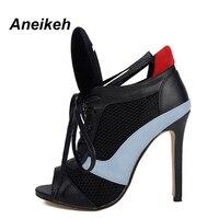 Trendy Sandali Scarpe da Donna Tacco Alto Sandali Pumps 9969 NERO 40