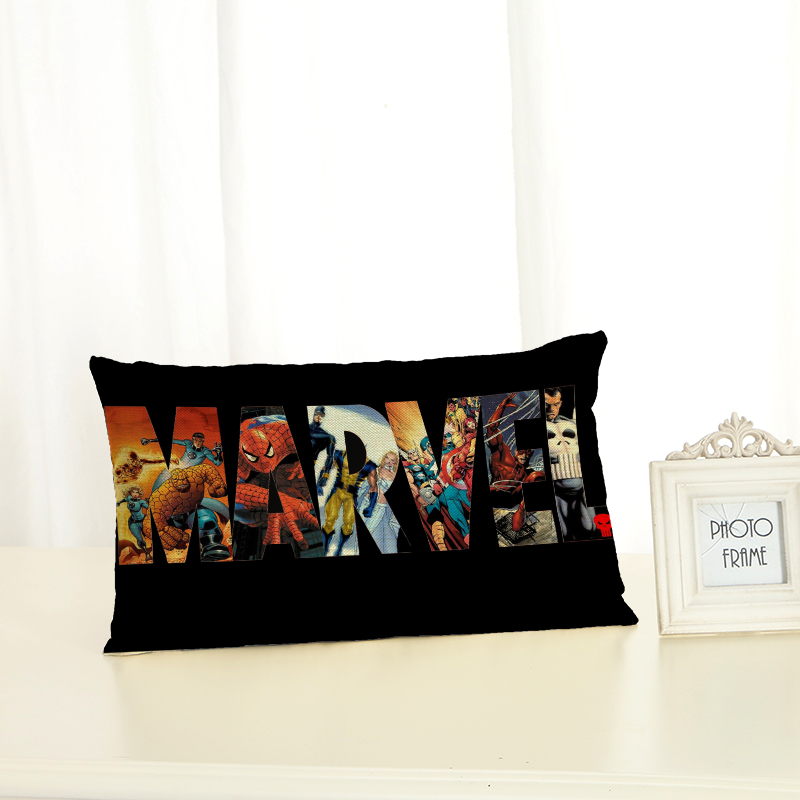 Personalized Super Hero Cushion Covers Fashion Creativity Home decoration <font><b>30x50</b></font> Decorative Beige Linen <font><b>Pillow</b></font> <font><b>Case</b></font> image