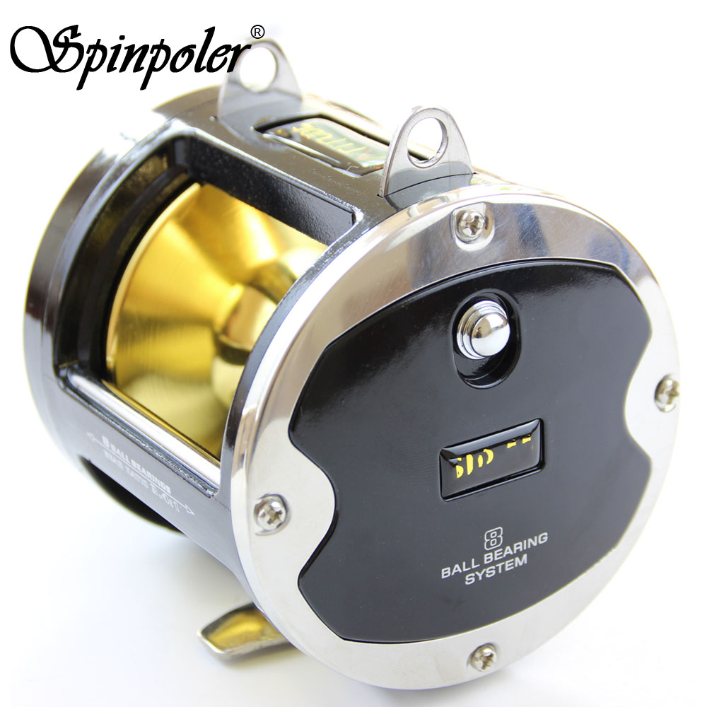New Black 8 Stainless Steel Ball Bearings Fishing Trolling Reel Jigging 25kg Drage Force Deep Sea