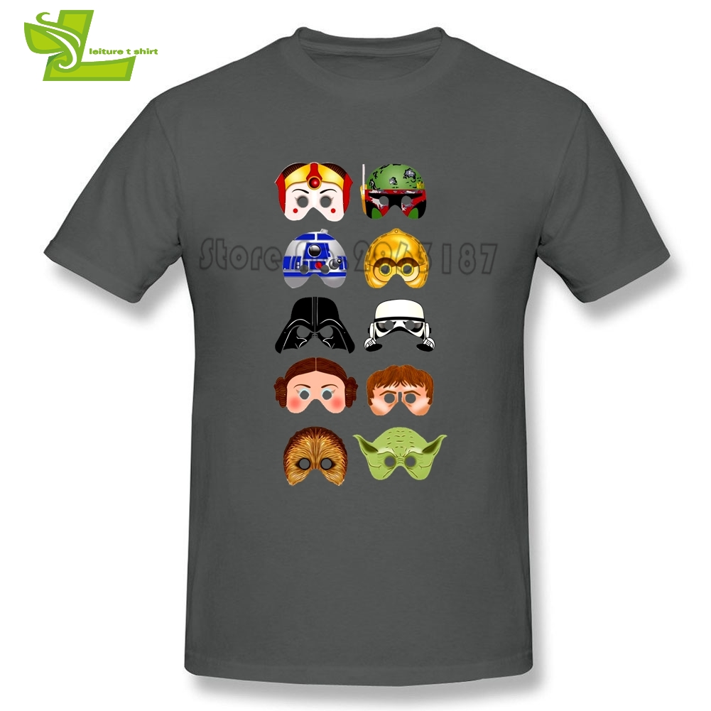 Star Wars Characters R2-D2 DARTH VADER Yoda Chewbacca c-3p0 Boba Fett T Shirt Men 100% Cotton Club Tee Adult Oversize Top