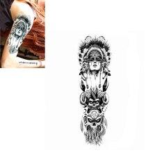 Ancient Women Keep The Tears Size 22 X 12cm Body Art Tatoo Temporary Tattoo Exotic Sexy Henna Tattoo Tattoo Stickers