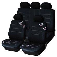 Cubierta de Asiento de coche Estilo Mariposa Bordada Ajuste Universal Más de Protección Del Asiento de Automóvil Cubre Interior Accesorios Asiento