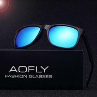 AOFLY Brand New Polarized Sunglasses Men Fashion TPE Frame Male Eyewear Sun Glasses Outdoor Travel Oculos