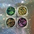 Горячая Продажа! 1 box Chameleon Flakes Магический Эффект Хлопья Нескольких Chrome Ногтей Порошок Блеск Блестки Nail Art Гель Лак Для Ногтей Маникюр