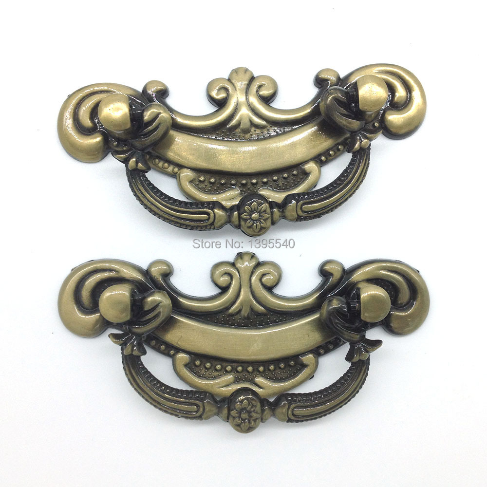 5pcs Antique Cabinet Drawer Handle Kitchen Cabinet Knobs