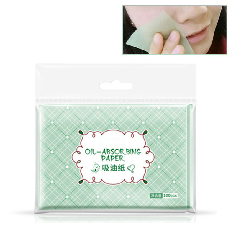 100PCS Summer Facial Oil Blotting Sheets Oil Absorbing Papers Facial Cleanser Oil Control Shrink Pore Face Cleaning Tool